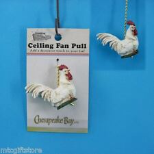 Ceiling Fan Accessory Pull - Hand Painted Epoxy Resin Rooster Chicken # 60869