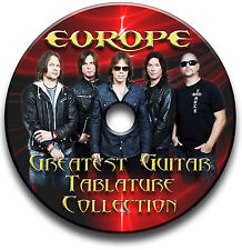 EUROPE METAL ROCK GUITAR TABS TABLATURE SONG BOOK ANTHOLOGY SOFTWARE CD