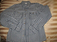 abercrombie and fitch designer box check navy blue long sleeve xl 44