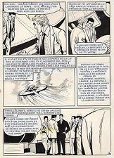 MADAME ATOMOS CRACHE DES FLAMMES PLANCHE ORIGINALE  PAGE 90 soucoupe volante