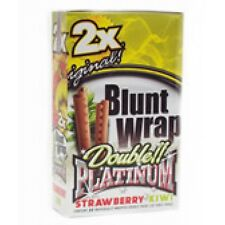 rolling papers blunt wraps Double Platinum Strawberry Kiwi