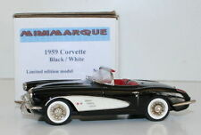 MINIMARQUE 1/43 SCALE - 1959 CORVETTE - BLACK / WHITE  - LIMITED EDITION MODEL