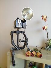 Kodak Hawkeye Brownie Camera Industrial Robot Black Pipe Lamp Flash Photography