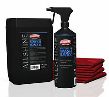 Waterless Car Wash & Wax Kit (Makes 6 litres) + 2 x Premium Microfibres