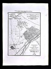1822 Tardieu Map - Plan of the Acadamia Athens Ancient Greece Attica Kerameikos