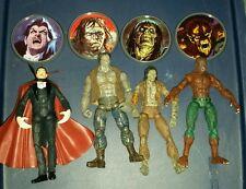 Marvel Legends Monsters Set of 4 Dracula Wolfman Zombie Frankenstein Toy Biz