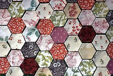 Laura Ashley 50 Vintage Pre-atajado Patchwork hexágonos Craft/Encanto/QUILT/Cojín