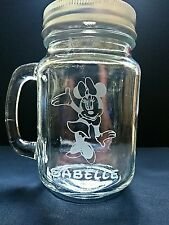 Engraved Minnie Mouse Mason Drinking Jar - New - Personalised