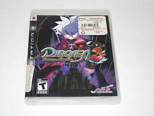 Disgaea 3: Absence of Justice (Sony PlayStation 3, 2008) PS3