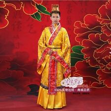 Chinese Ancient Man Clothing Emperor Prince Show Cosplay Robe Costume with Hat
