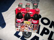 TORONTO MAPLE LEAFS COMPLETE SIX PACK OF COCA-COLA BOTTLES AIR CANADA CENTRE
