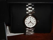 Marc by Mark Jacobs Women's Silver Tone S/ Steel 37mm White Dial Watch~MJ3485