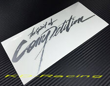 Spirit of Competition Stickers Decals Ralliart Lancer Evo 4 5 6 7 FREE SHIPPING