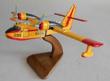 CL-215 Scooper Greece AF Canadair CL215 Airplane Wood Model Replica Small New
