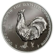 Mongolia 2017 500 Togrog Year of the Rooster 1oz Silver