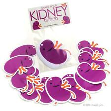 SHARE YOUR KIDNEYS STICKERS I HEART GUTS GIANT STICKER PACK OF 15 STICKERS SET