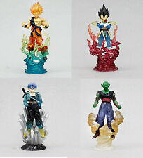 BANDAI Lot 4 Dragonball Z Ultimate Spark SS Goku Vegeta Trunks Piccolo Figure