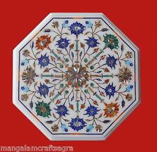 "12"" Marble Coffee Table Handmade Pietra dura Art Craft Work For Home Decor"