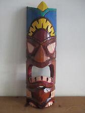 Comercio Justo Tiki Máscara De Madera Tallada a Mano Diseño Colgante De Pared #19