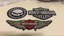 Patch toppa aufnaher Écusson embroidered Harley Davidson X3 thermocollant