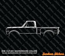 2X Car silhouette stickers - for Chevrolet C10 stepside 1967-1972 classic truck