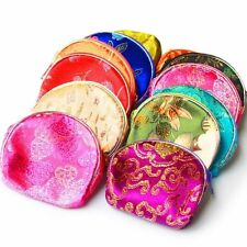 5 PCS Jewelry Gift Bag Chinese Silk Pouch Wallet Coin Purse Random Color EW12