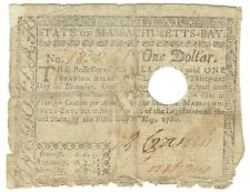 $1 Colonial Massachusetts Spanish Milled Dollar Note May 5, 1780 Fr-M278 Gift