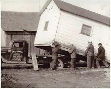 """Circa 1930s Photo Math A.Dornacker Truck West Bend WI Shed Moving 5 x 7 """""""