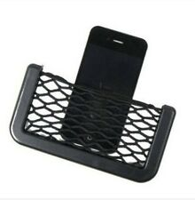 Universal Car Seat Side Back Storage Net Bag Phone Holder Organizer Black
