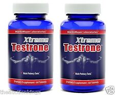 "2 x XTREME TESTRONE PENIS ENLARGER THICKER LONGER 3"" GROWTH ENLARGEMENT PILLS"