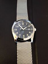 Victorinox Swiss Army Watch Infantry Date Window Mesh Steel Bracelet 241585 NEW!