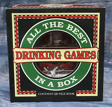 All the Best Drinking Games in a Box - 4 glasses, 2 dice & instruction Book.