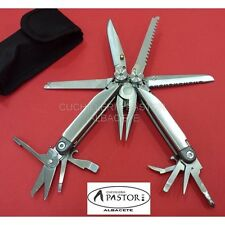 Alicate Multiusos Imit Leatherman Wave ideal para Pesca, Caza, Supervivencia
