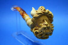 VIKING HANDCARVED MEERSCHAUM TOBACCO PIPE NEW UNUSED WITH CASE