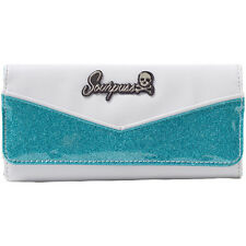 Women's Sourpuss Monroe Wallet Turquoise/White Retro Rockabilly Pin Up