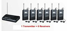 WPM-200 Wireless Monitor System UHF In-Ear Wireless Headphones & Ear 6 Receivers