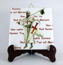 Knight Templar Ceramic Tile Masonic Templars handmade from Italy Knights Mod.19