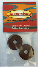 Four Cadillac Brown Silicone Rubber Guitar Strap Locks-Classic & Reliable
