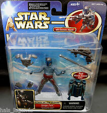 Star Wars Attack of the Clones JANGO FETT w/Jetpack & Snap-on Armor New! Rare!