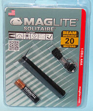 SOLITAIRE 1 AAA MAGLITE KEYCHAIN KEY RING FLASHLIGHT TORCH MAG LIGHT & BATTERY