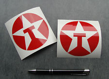 2x stickers decal auto moto TEXACO OIL Rouge 90mm pegatinas aufkleber A16-027