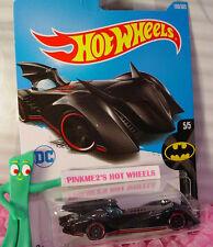 DC Comics BATMOBILE #190✰Black; red rim pr5✰BATMAN✰2017 i Hot Wheels Case H