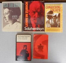The Communist Manifesto 5 book lot Revolutionaries Rosa Luxemburg Lenin Zurich