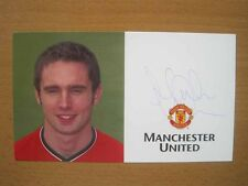 2000-2002 Mark Wilson firmato MAN UTD Club Card (2134)