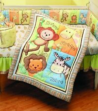 Baby Bedding Set 4 Piece Crib Unisex Nursery Monkey Jungle Safari Boy or Girl