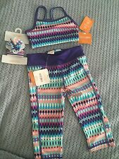 Gymboree Baby Girl Xs (3-4) Athletic Wear Capri Top And Ponytail Holders NWT