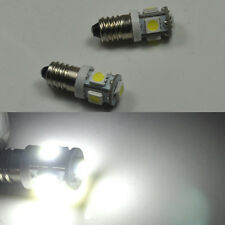 2x Bright 6000k E10 SMD 5050 5 LED BULBS MES SCREW TORCH HEADLAMPS 12V DC