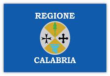 Calabria regione Italia Italy bandiera flag etichetta sticker 15cm x 10cm
