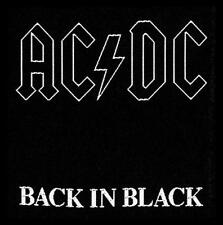 "AC/DC AUFNÄHER / PATCH ""BACK IN BLACK"""