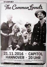 COMMON LINNETS - 2016 - Konzertplakat - Concert - Tourposter - Hannover